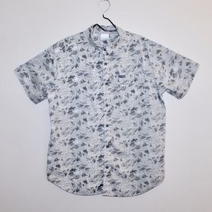 Columbia Beach Print Button Down Shirt Size Large